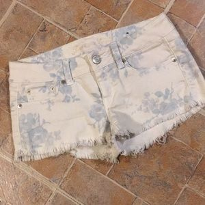 American Eagle jean shorts size women's 0